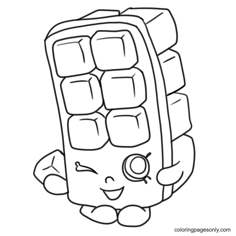 Shopkins Ice Cube Coloring Page