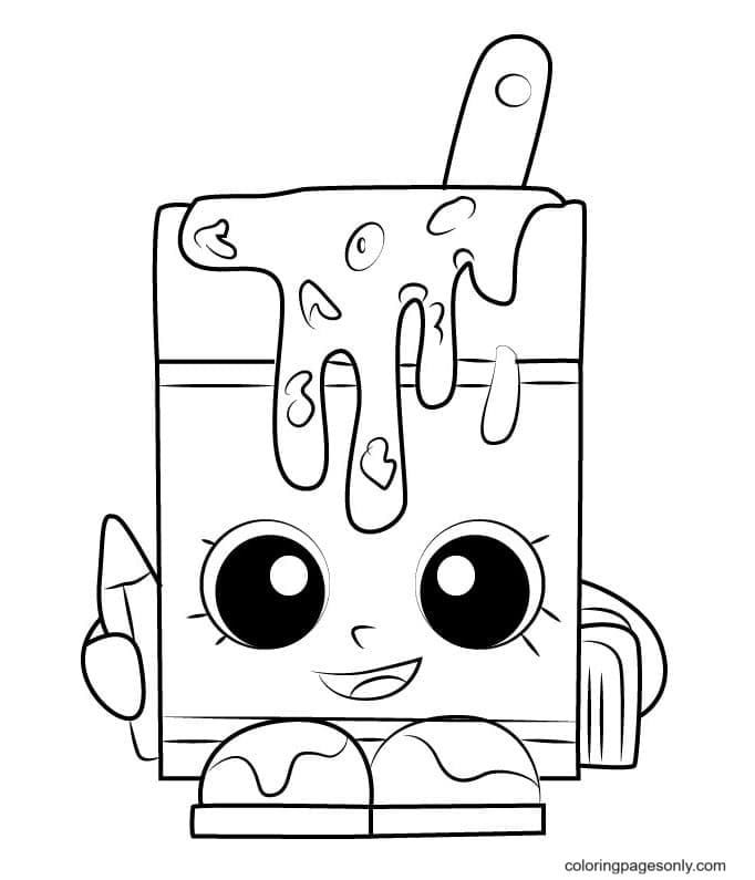 Shopkins Popsicle Coloring Page
