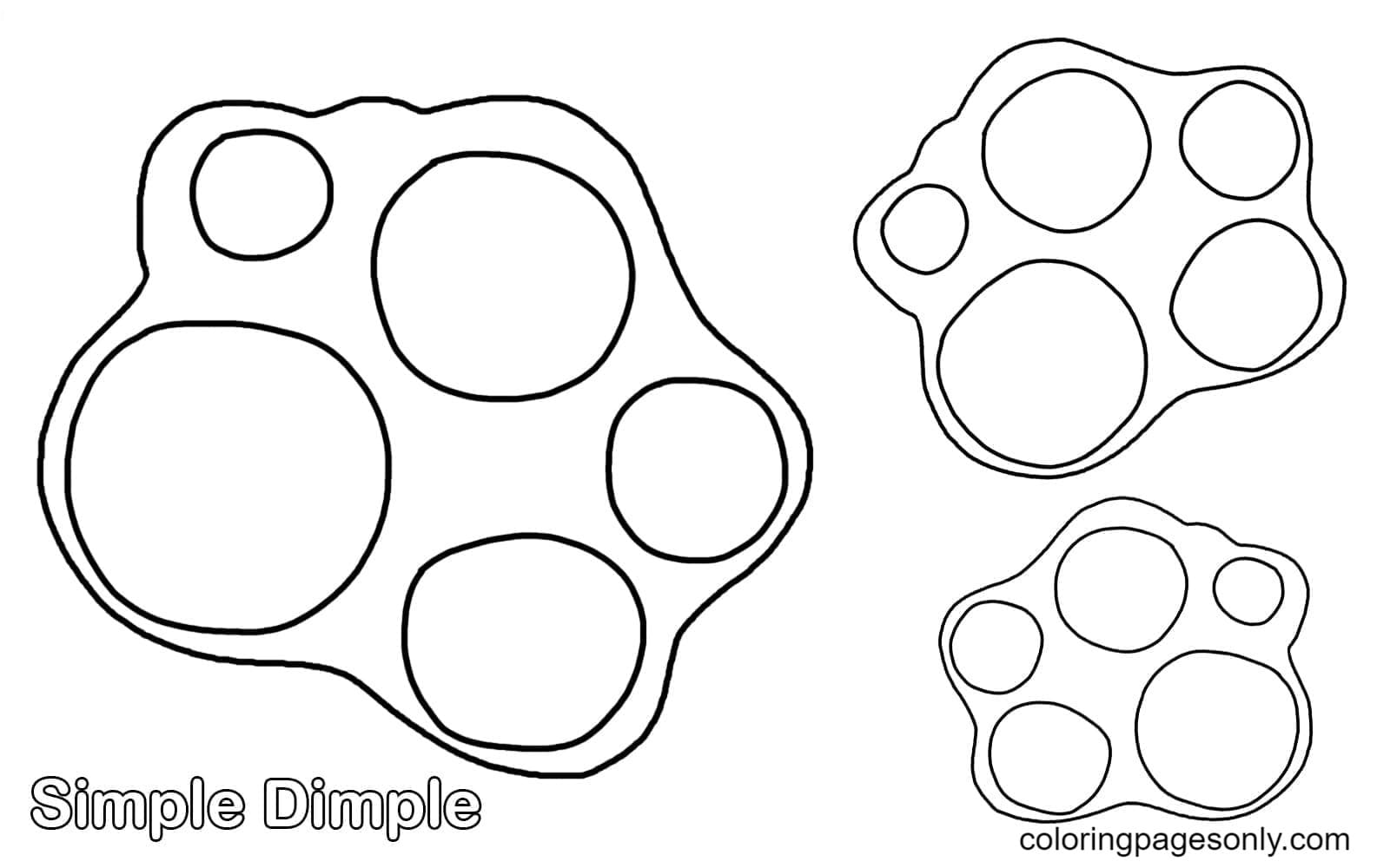 Simple Dimple Coloring Page