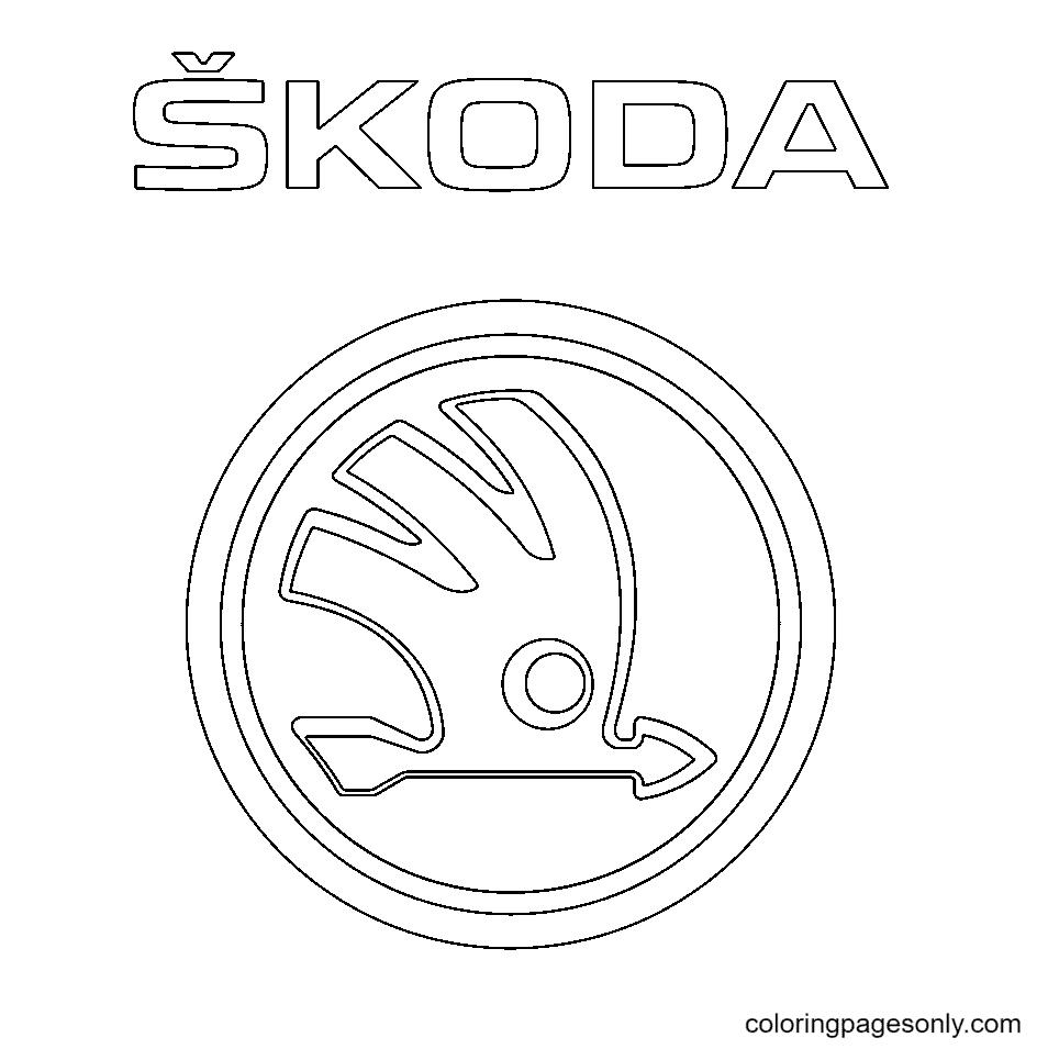 Skoda Logo Coloring Page
