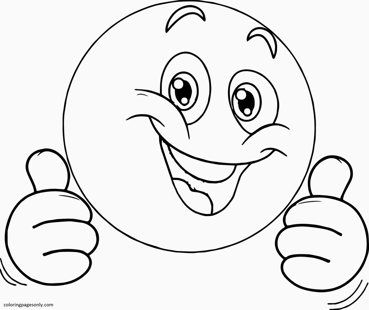 Smiley Faces Coloring Page