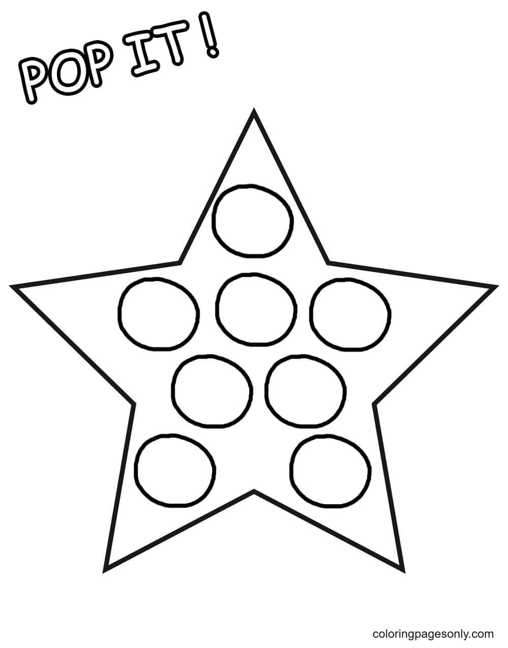 Star Pop It Coloring Page