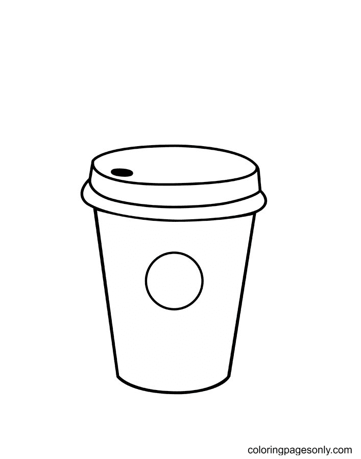 Starbucks Coffee Cup Coloring Page