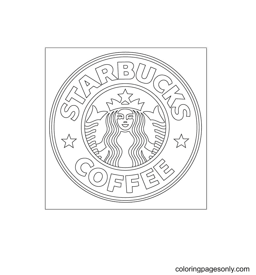 Starbucks Coffee Logo Printable Coloring Page