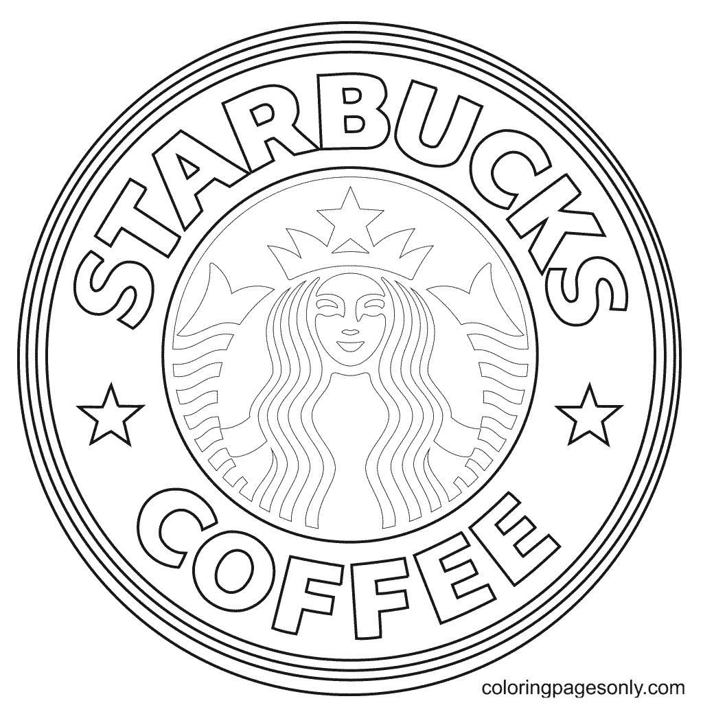 Starbucks Coffee Logo Coloring Page
