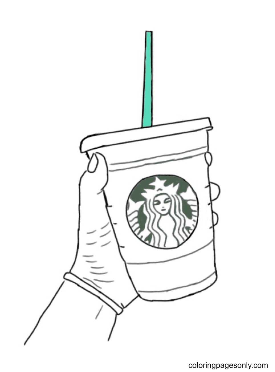 Starbucks Cup Coloring Page