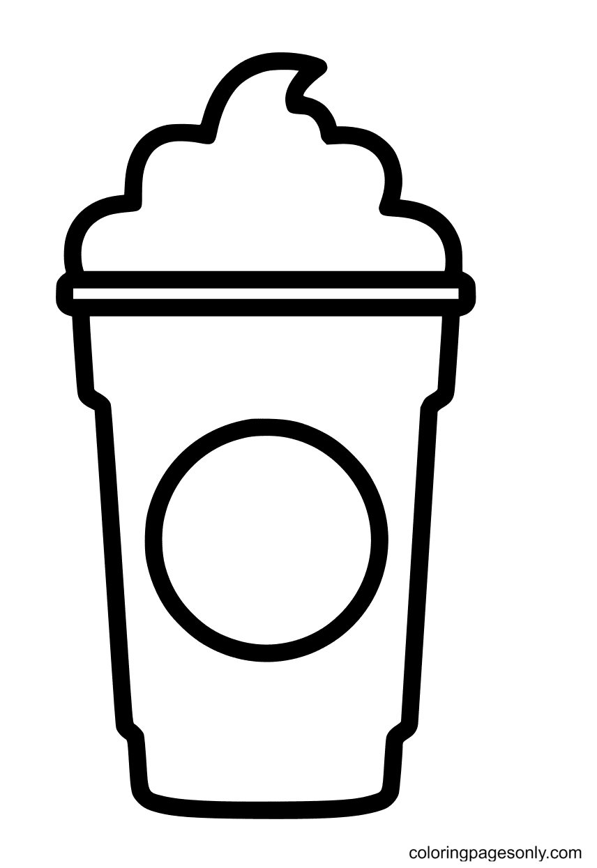 Starbucks Cup Cream Coloring Page