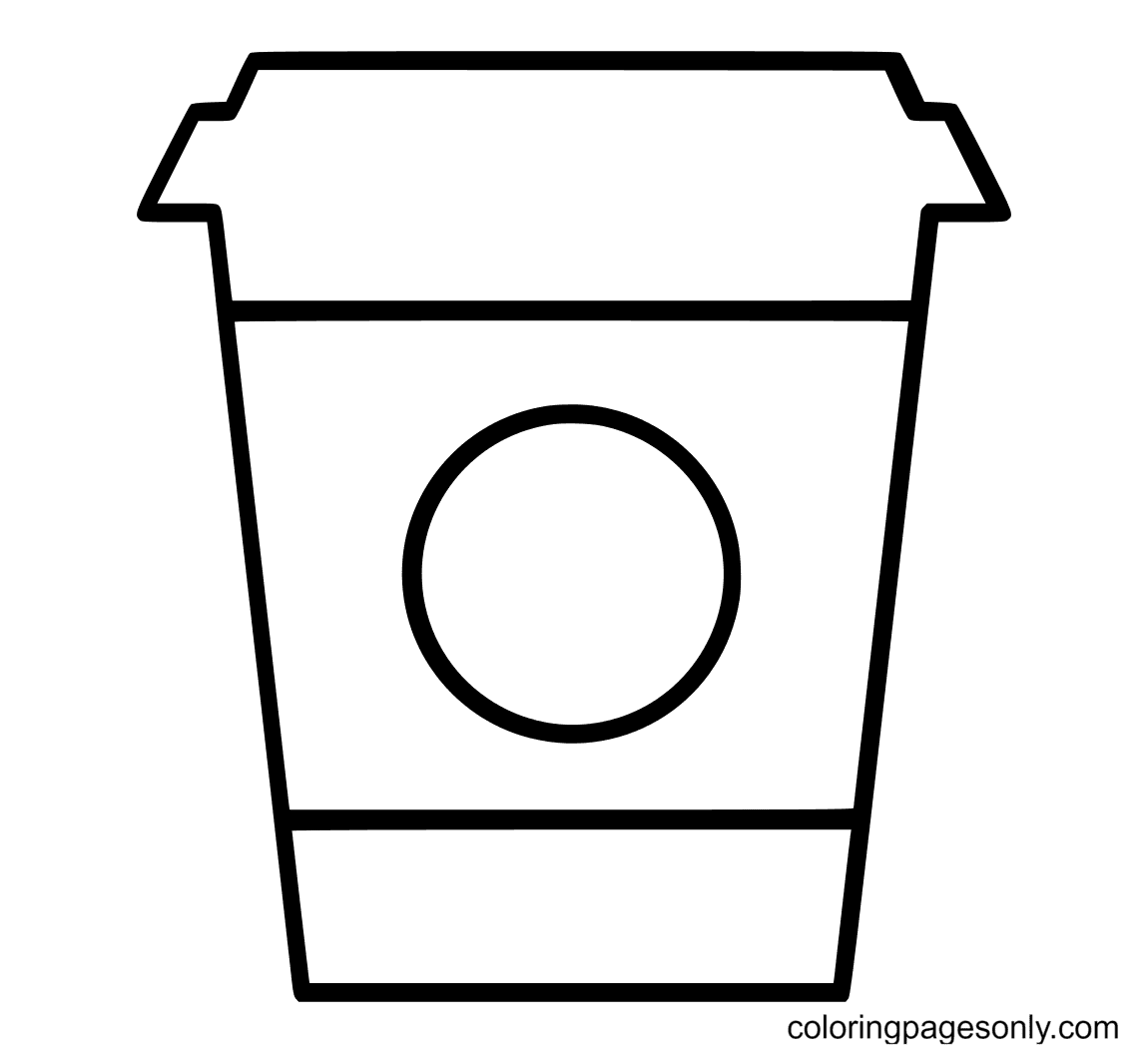 Starbucks Cup ultra circle Coloring Page