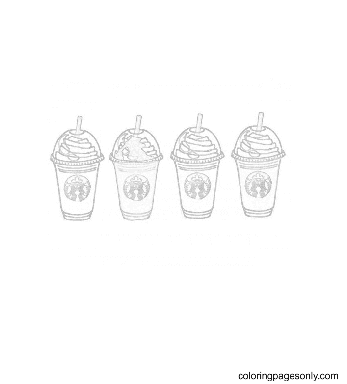 Starbucks Drink Coloring Page