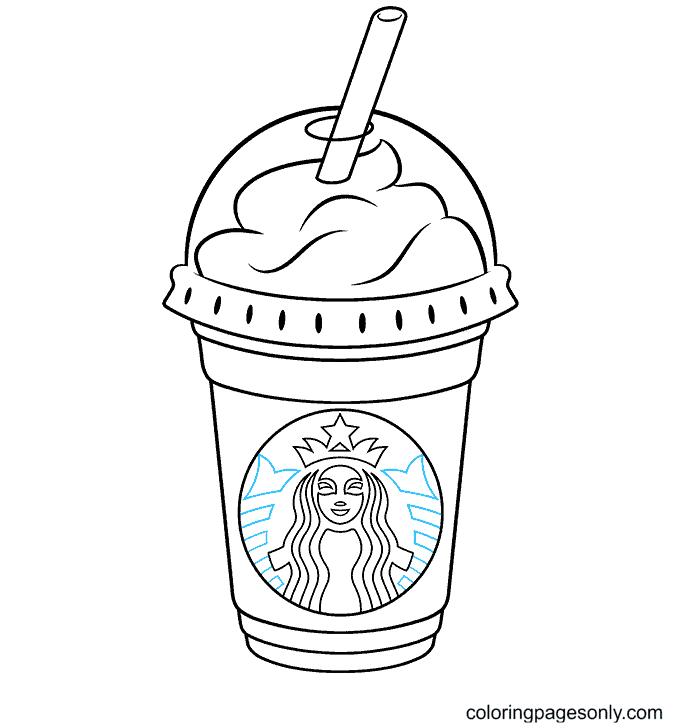 Starbucks Frappuccino Coloring Page