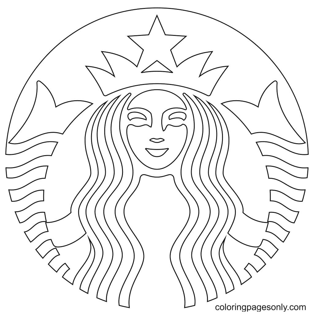 Starbucks Logo Coloring Page