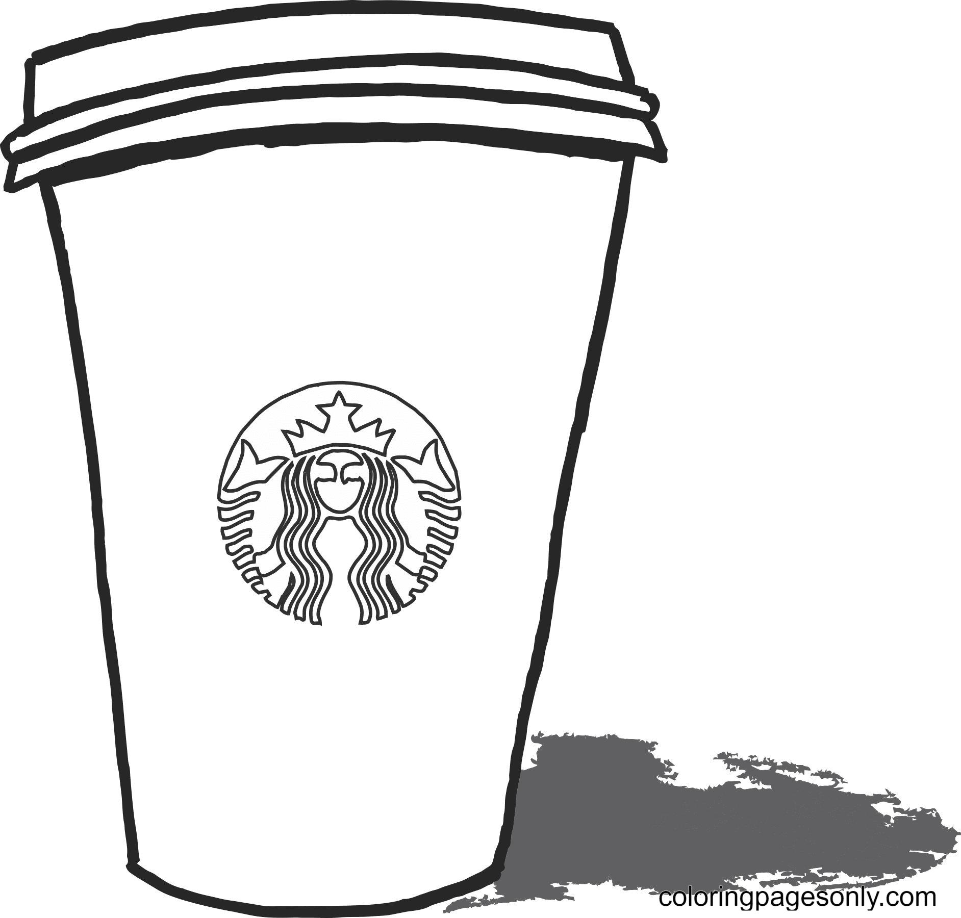 Starbucks Print Coloring Page