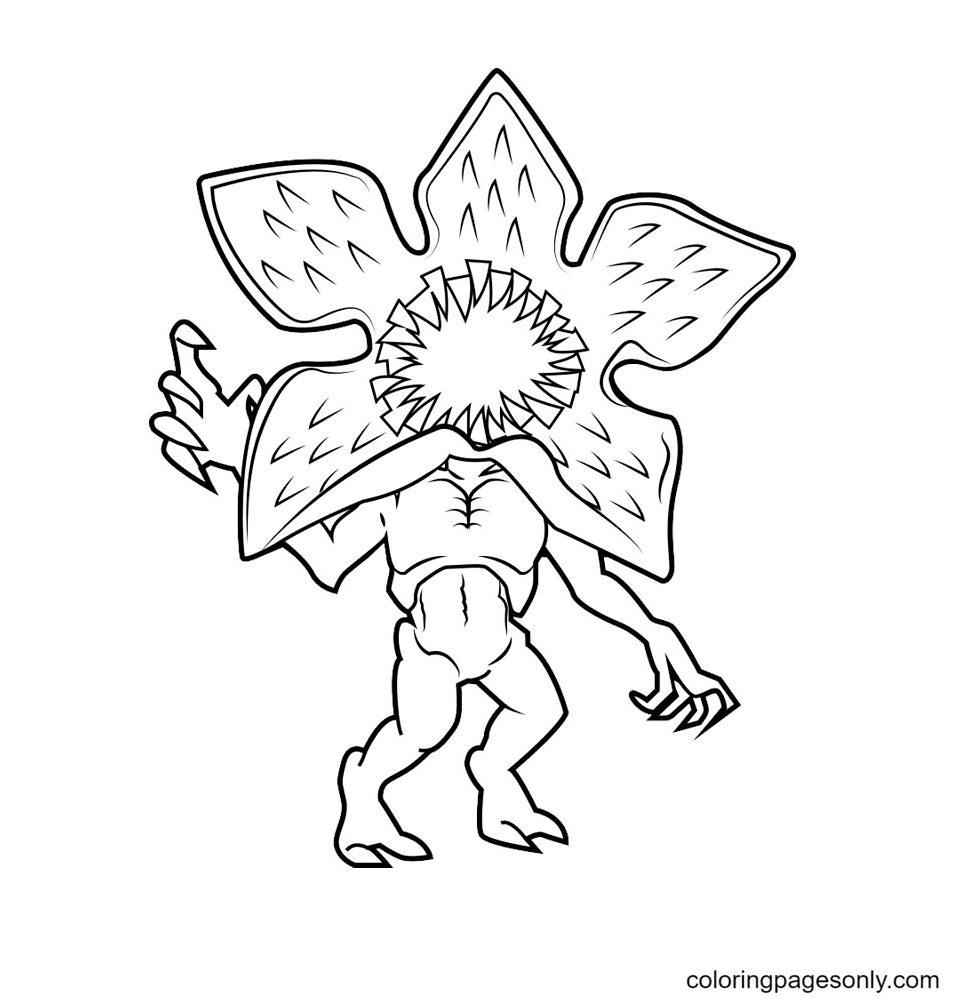 Stranger Things Demogorgon Coloring Page