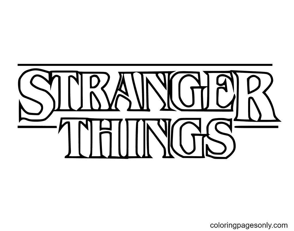 Stranger Things Logo Coloring Page