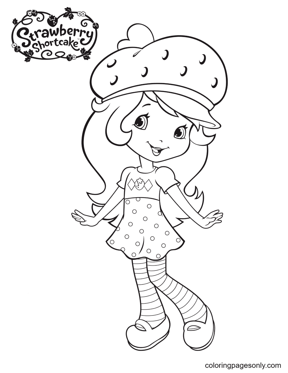 Strawberry Shortcake Cute Coloring Page