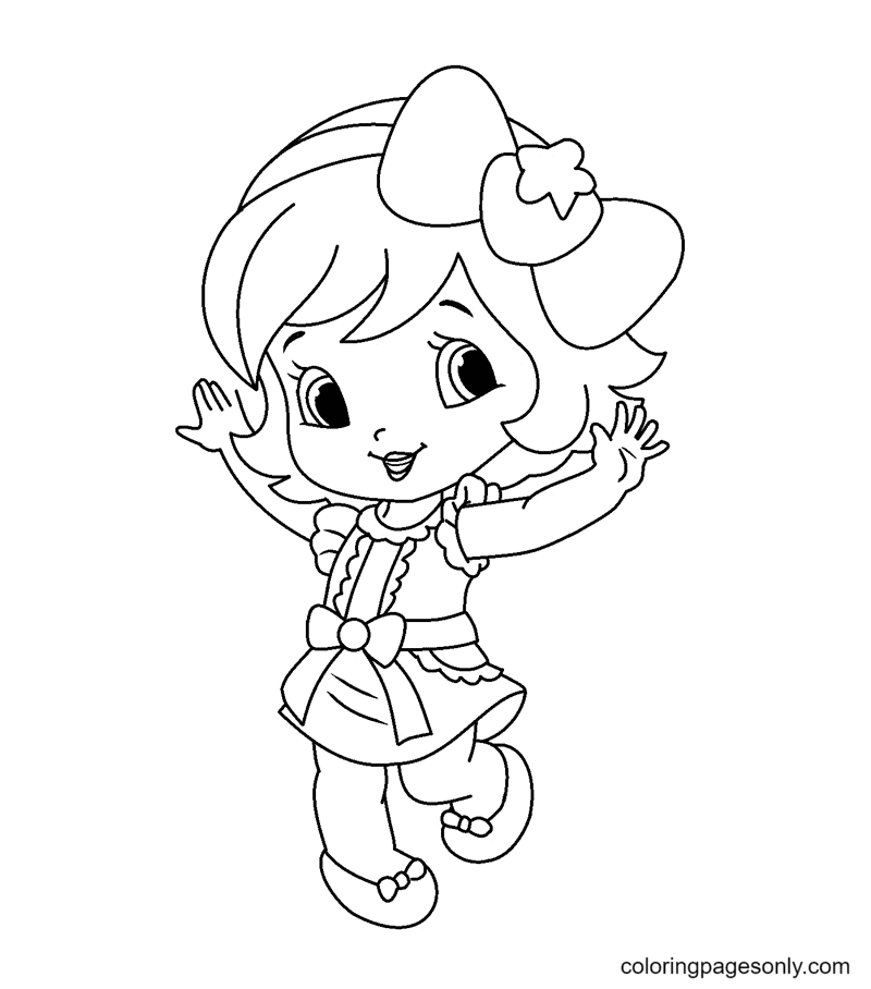 Strawberry Shortcake Doll Coloring Page