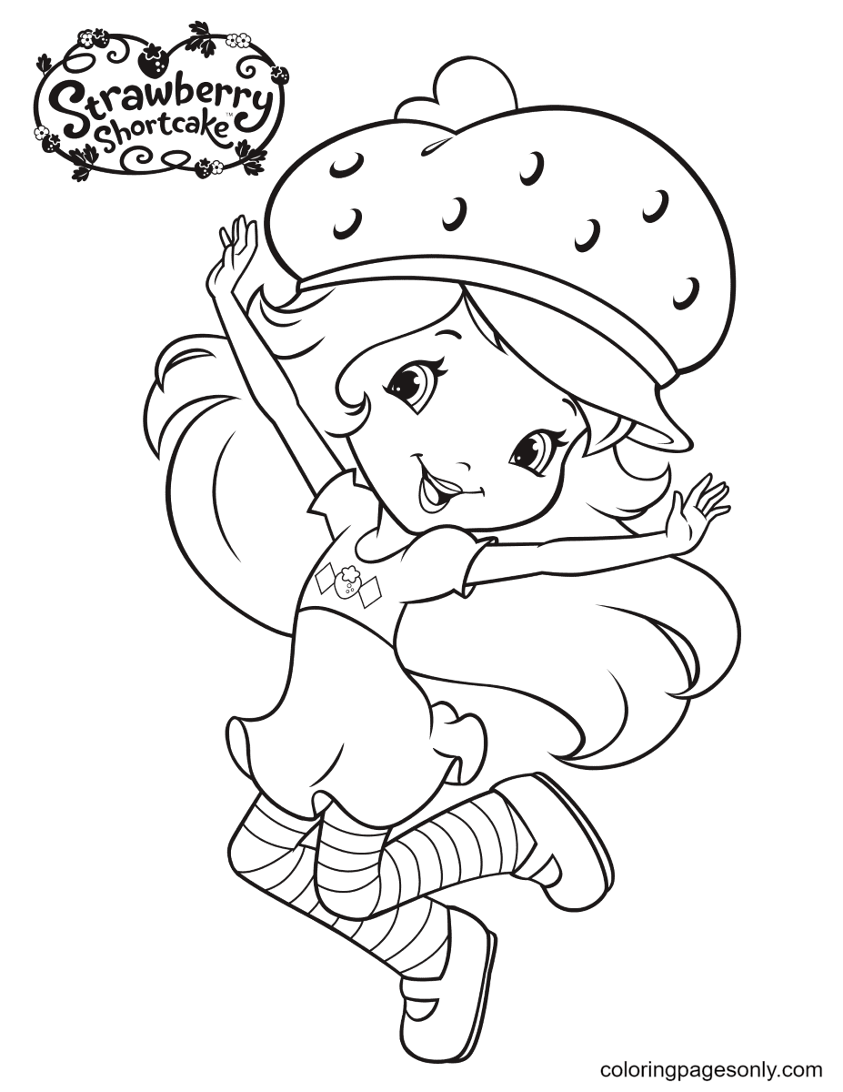Strawberry Shortcake dance Coloring Page