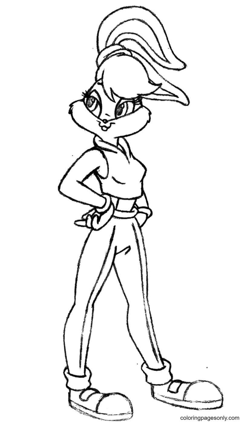Stylish Lola Bunny Coloring Page
