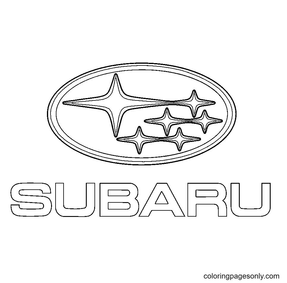 Subaru Logo Coloring Page