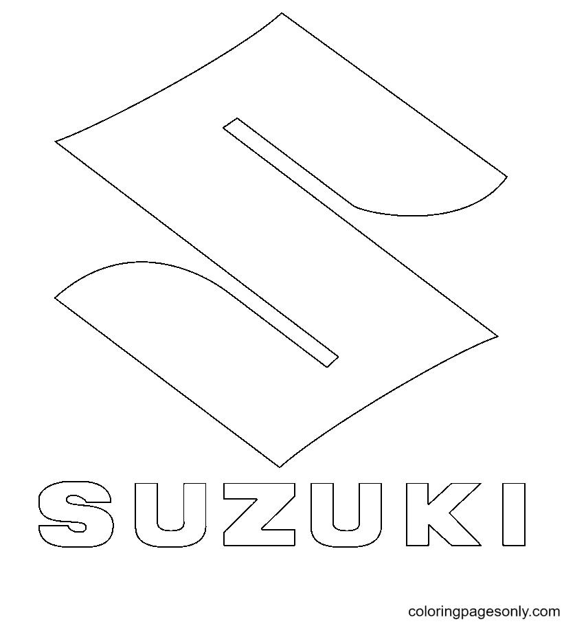 Suzuki Logo Coloring Page