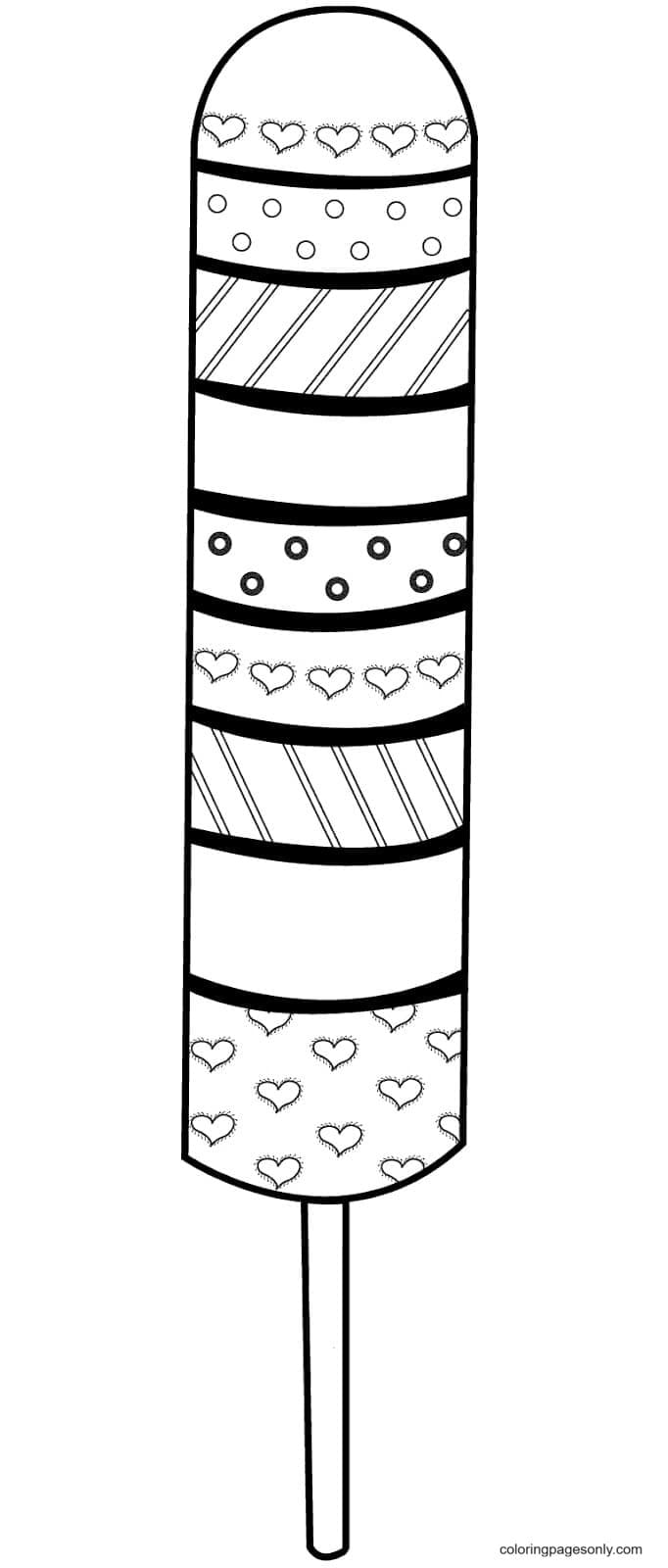 Sweet Summer Popsicles Coloring Page