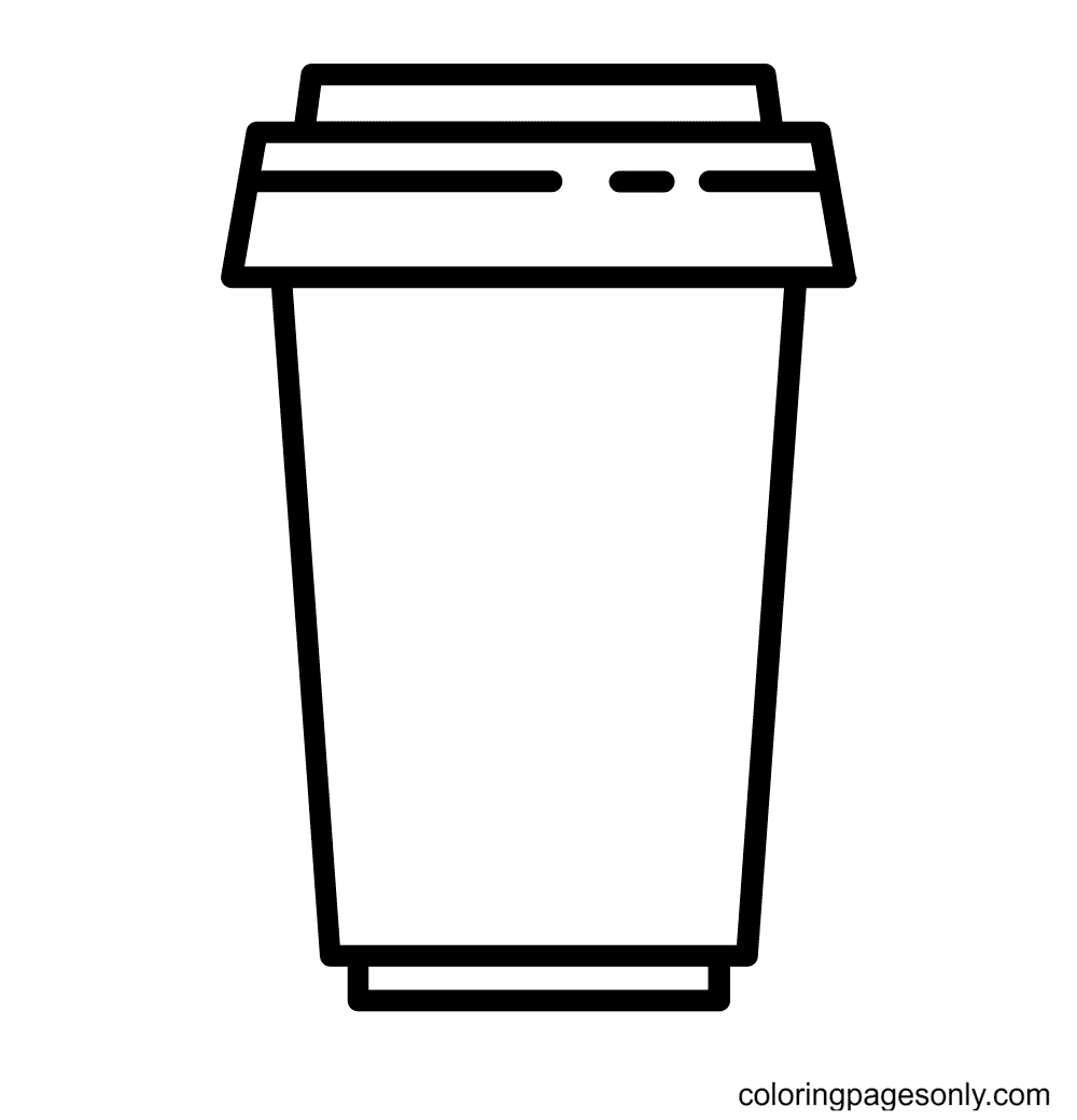Takeout Coffee Cup Starbucks Coloring Page