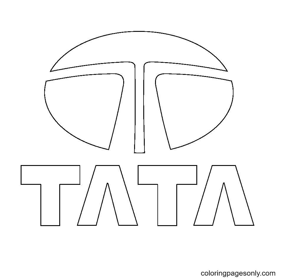Tata Logo Coloring Page