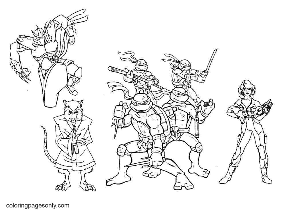 Teenage Mutant Ninja Turtles 1 Coloring Page