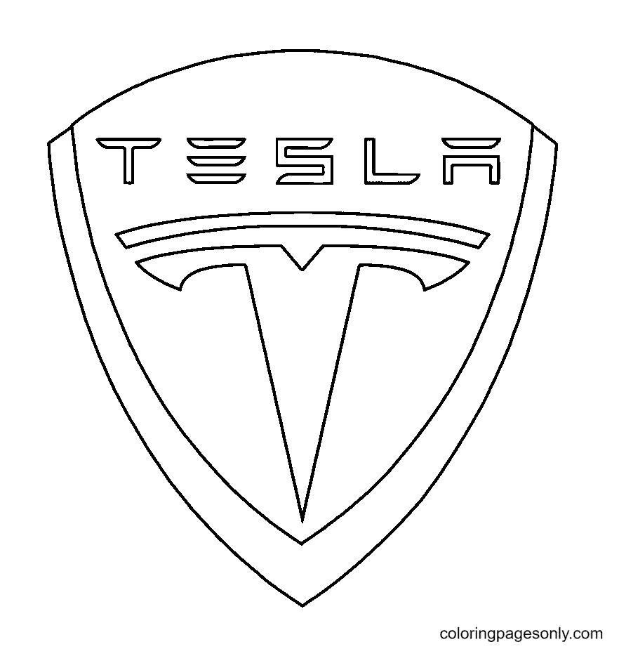 Tesla Logo Coloring Page