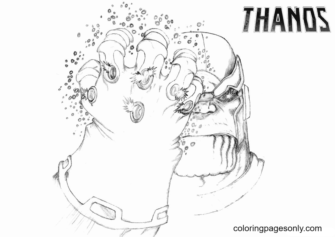 Thanos Infinity Gauntlet Coloring Page