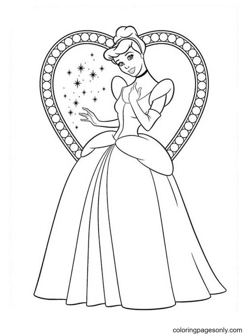 The Cinderella Princess Disney Coloring Page