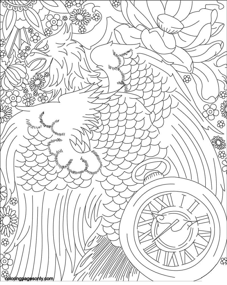 The Eaglet from Alice in Wonderland Coloring Page