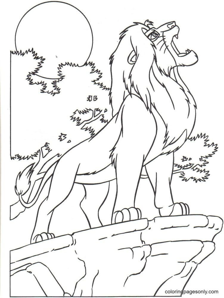 The King Mufasa Coloring Page