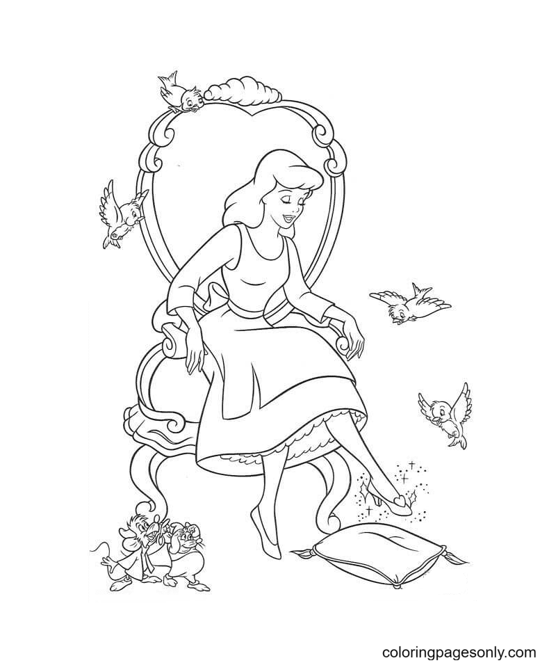 The Shoe Finds Its Owner Coloring Pages
