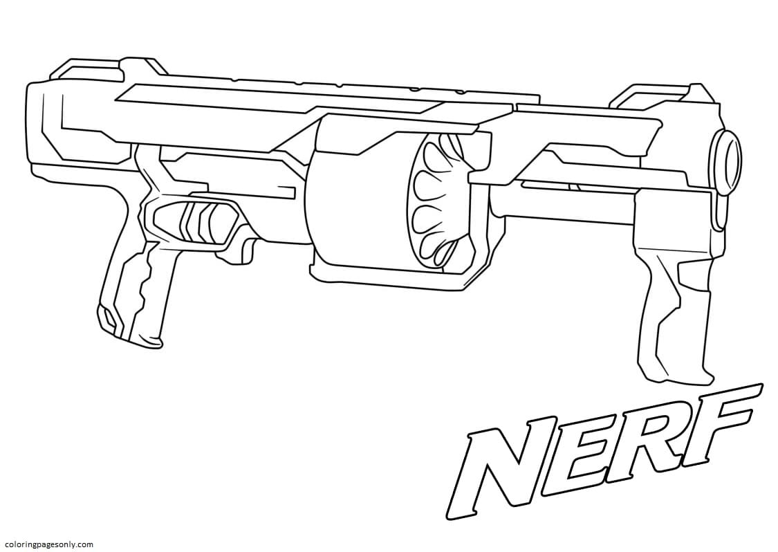 This Blaster Holds A Lot Of Charges Coloring Page