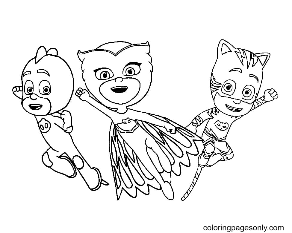 Together they fight crime Coloring Page