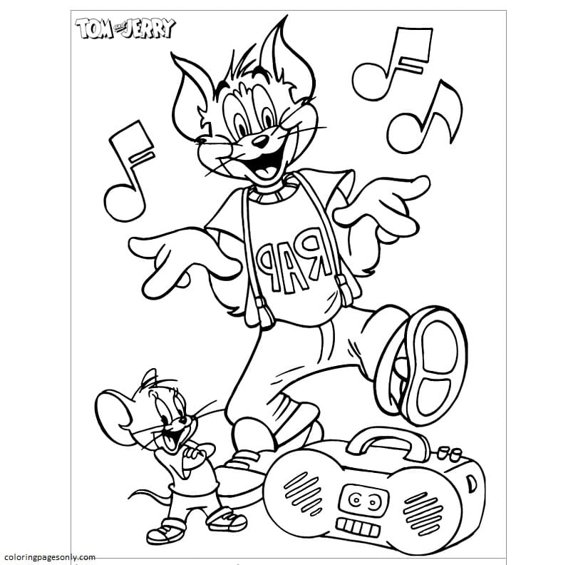 Tom And Jerry 12 Coloring Page