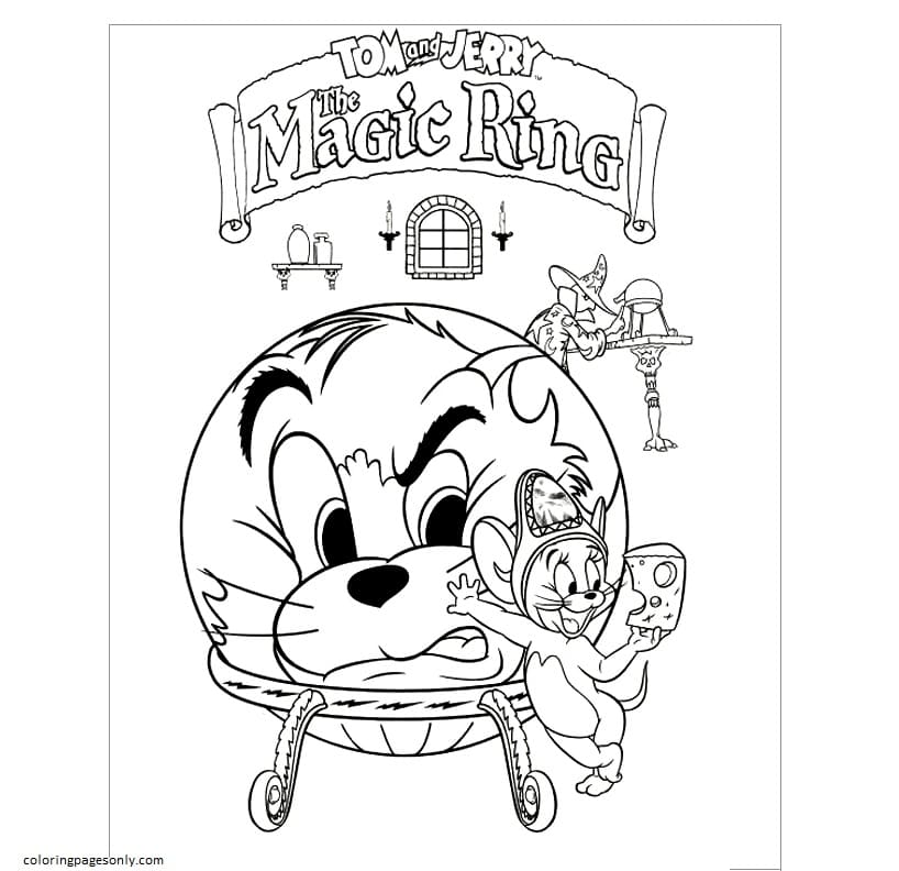 Tom And Jerry The Magic Ring Coloring Page