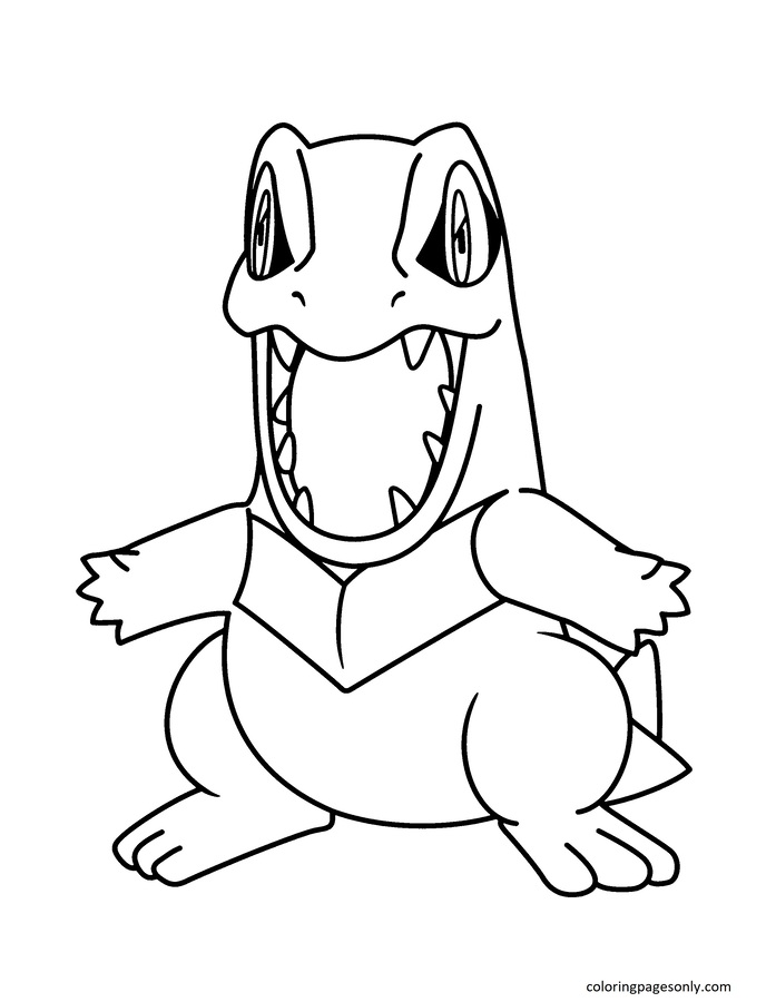Totodile 11 Coloring Page