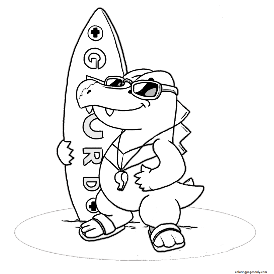 Totodile 14 Coloring Page