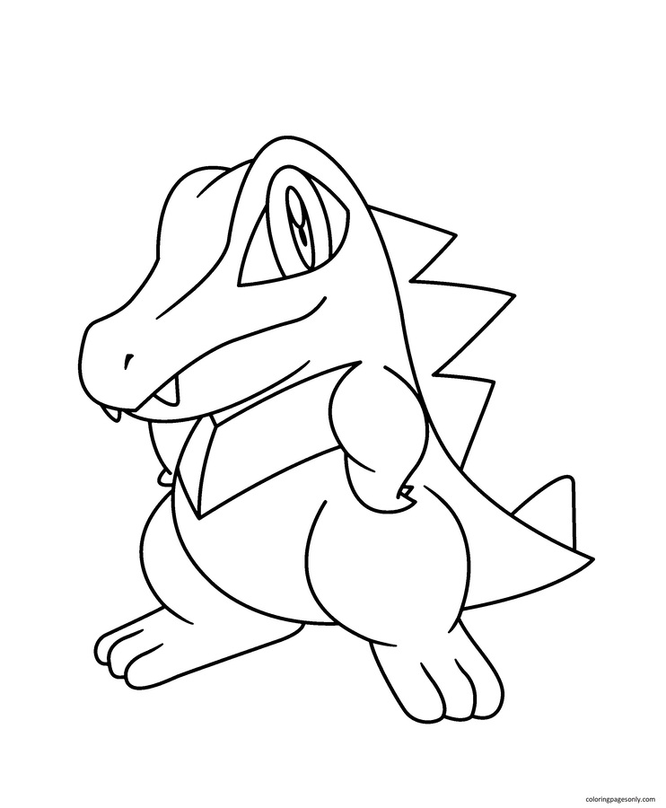 Totodile 2 Coloring Page
