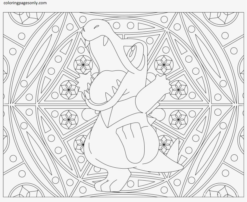 Totodile 3 Coloring Page