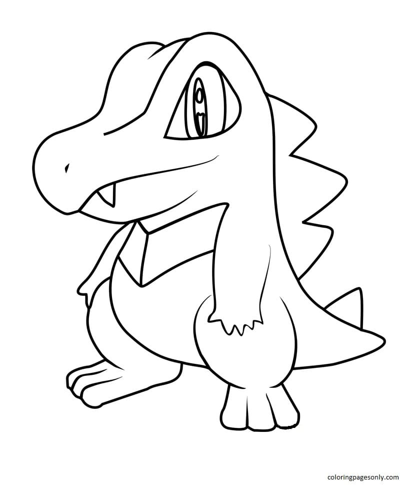 Totodile 4 Coloring Page