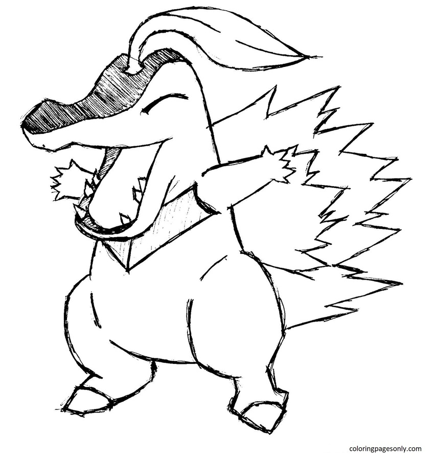 Totodile 7 Coloring Page