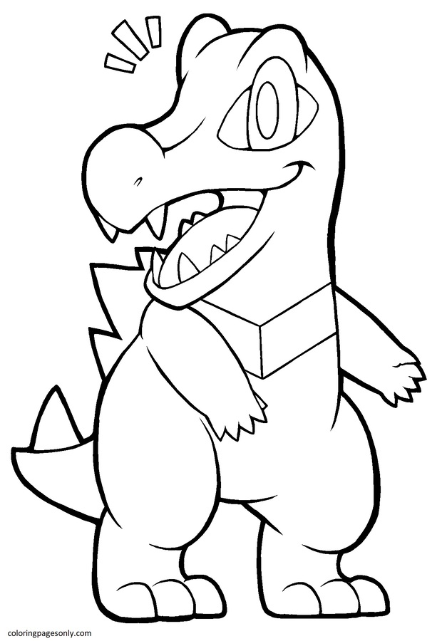 Totodile 8 Coloring Page