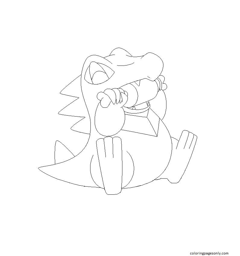 Totodile Pokemon 5 Coloring Page