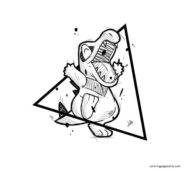 Totodile Pokemon 7 Coloring Page