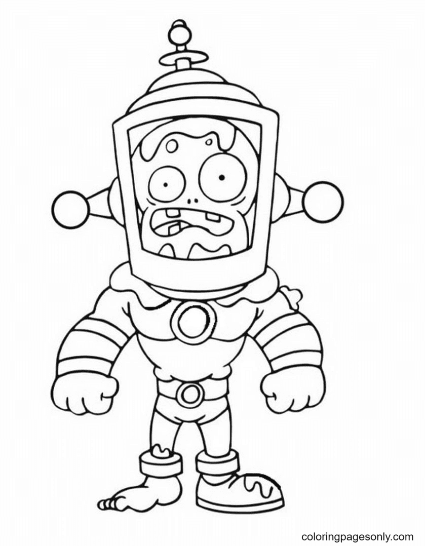 Toxic Brains Coloring Page