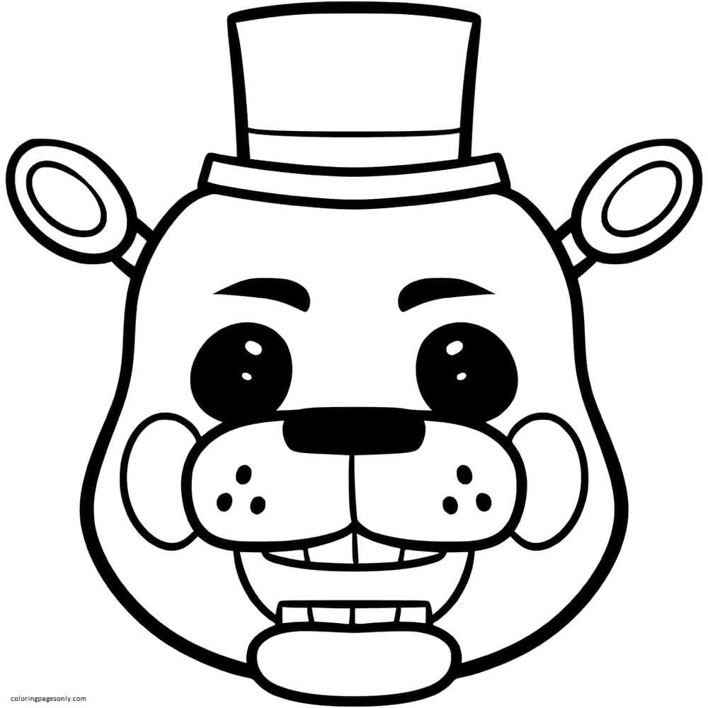 Toy Golden Freddy Coloring Page