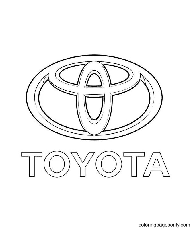 Toyota logo Coloring Page